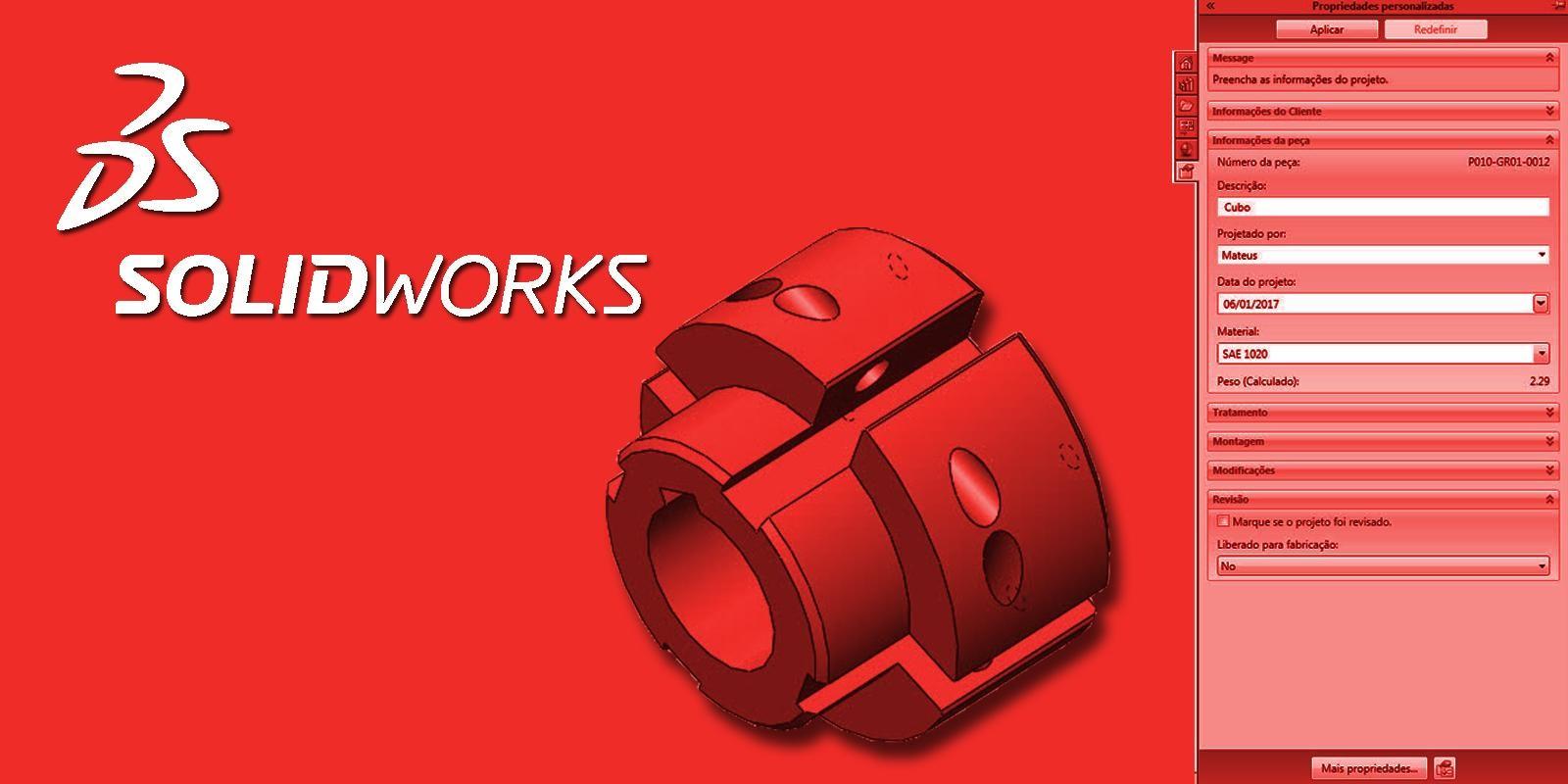 SolidWorks Configuração e Otimização de Projetos