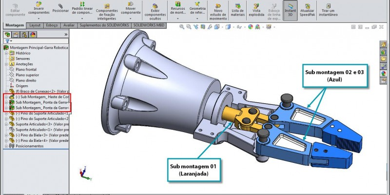 Sub Montagem Flexível no SolidWorks