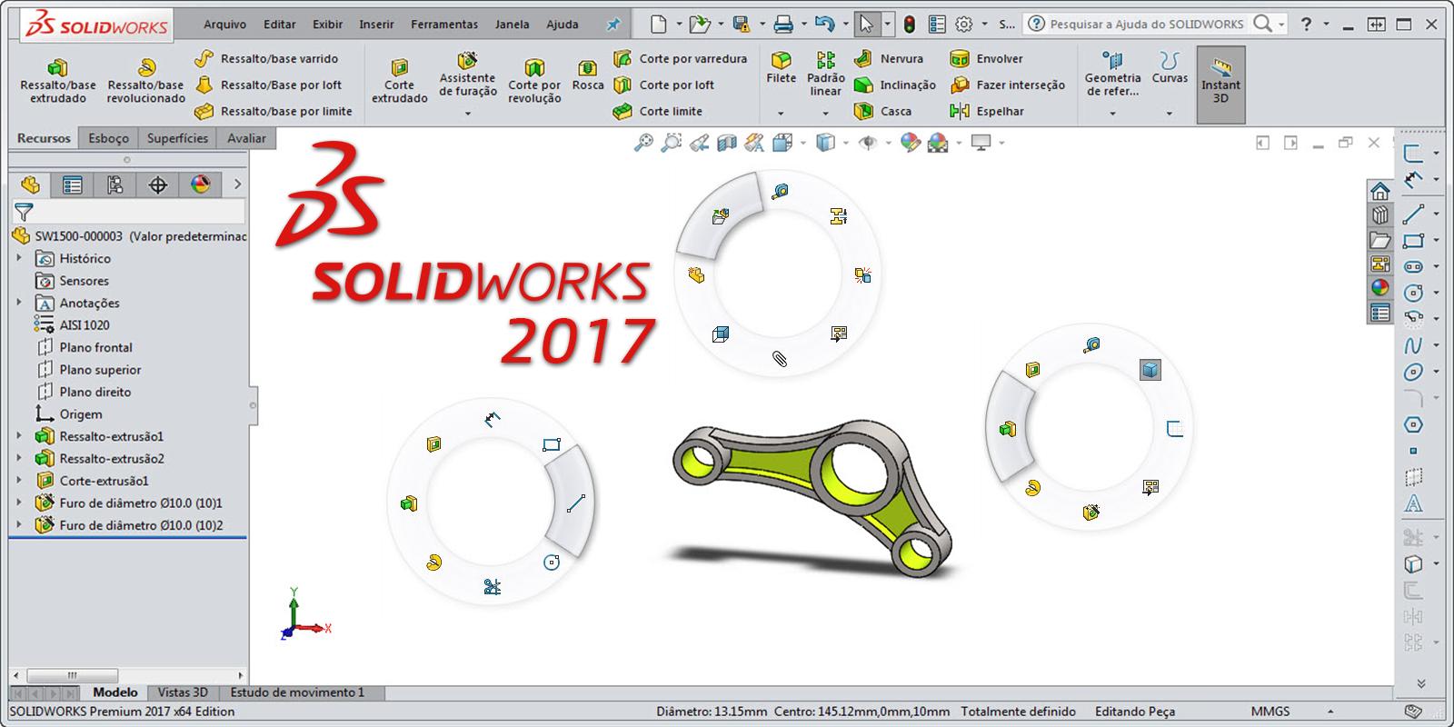 Como reduzir o tempo de projeto com os gestos do mouse no SOLIDWORKS 2017