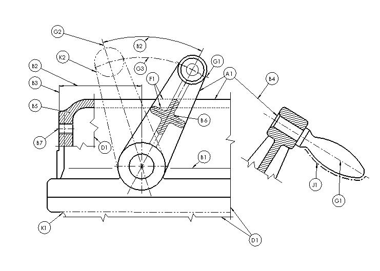 Aplicação de linhas em desenho técnico - NBR 8403